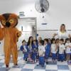 Visita do professor Corujão. Programa Escola da Inteligência