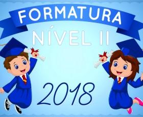 FORMATURA NÍVEL II 2018
